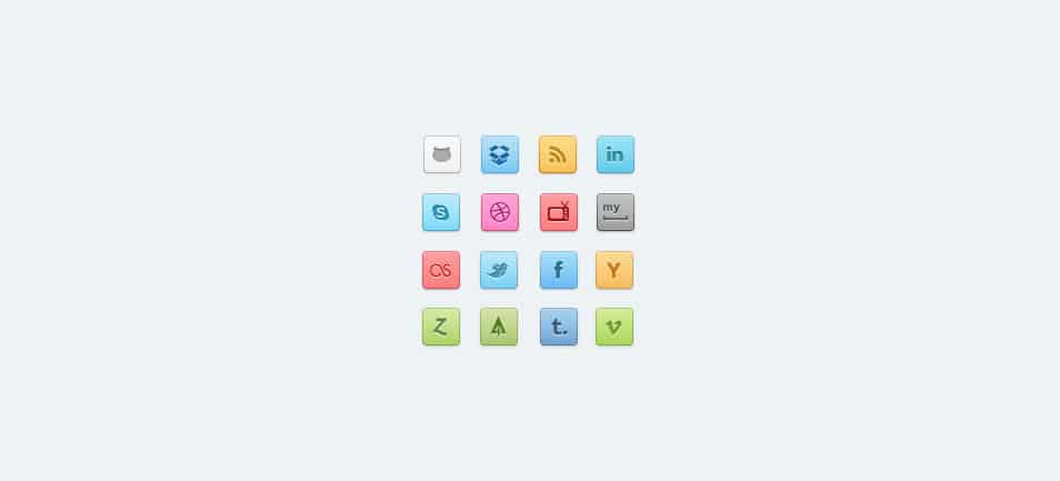 Candy Social Icons