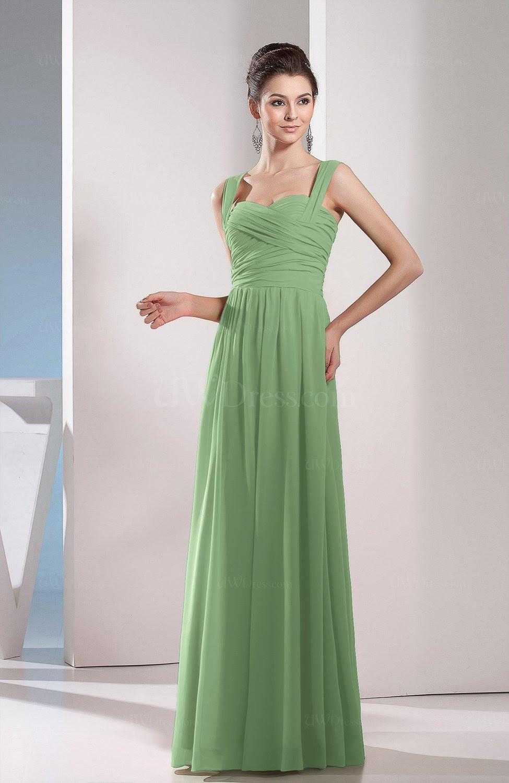 sage green cute aline chiffon floor length ruching