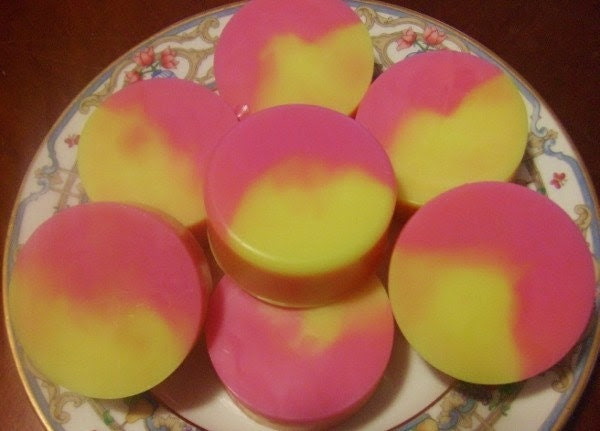 "Pink Grapefruit, Sugar & Patchouli Soap: River Girls ""Hippie Girl""  Large Handmade (1)"
