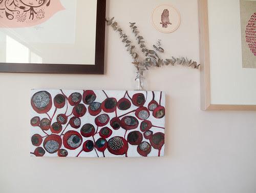 'blood pods' painting by Tsk Tsk