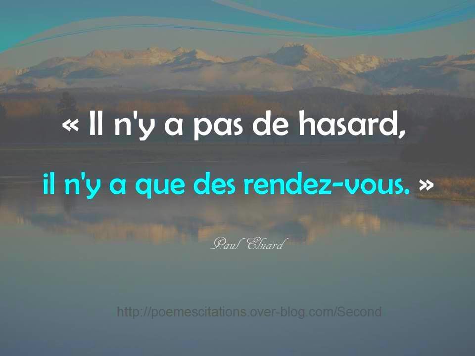 Citation Rencontre Hasard