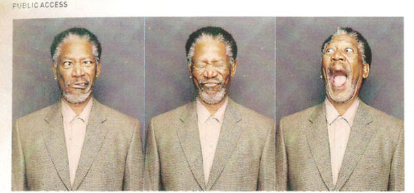 Morgan Freeman In A Photobooth Funny Pictures Quotes Pics