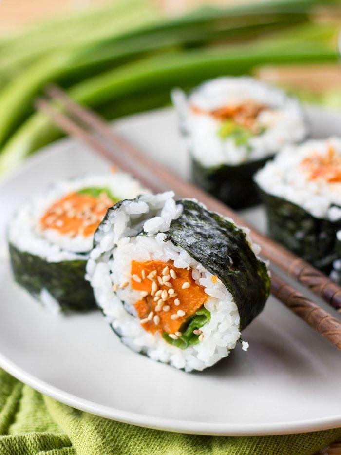 Sweet Potato Sushi - Connoisseurus Veg