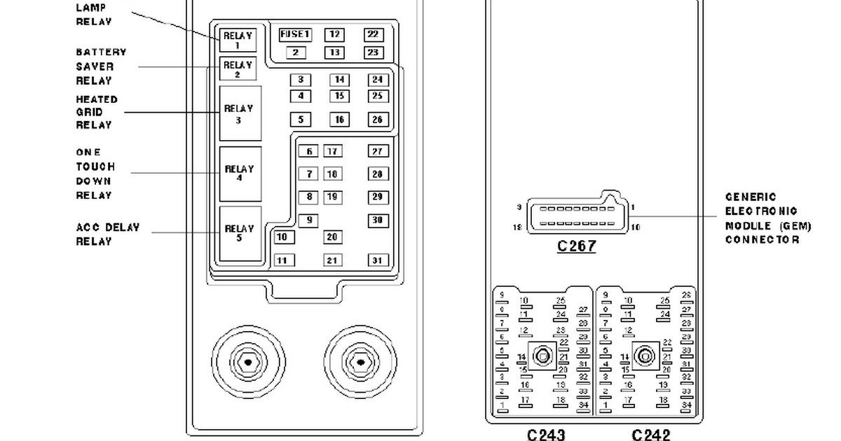 30 97 Ford Expedition Fuse Diagram