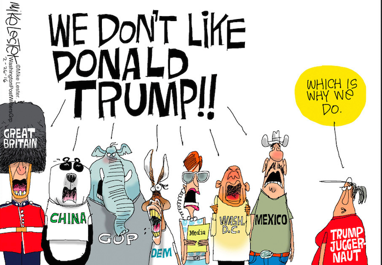 Image result for anti trump propaganda cartoons