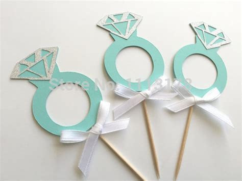 Engagement Ring Cupcake Toppers. party birthday