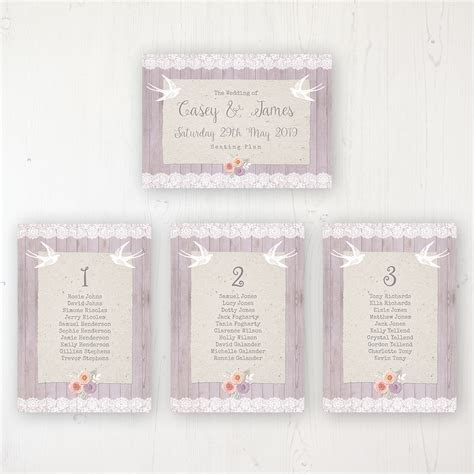 Vintage Birdcage Wedding Table Plan Cards   Sarah Wants