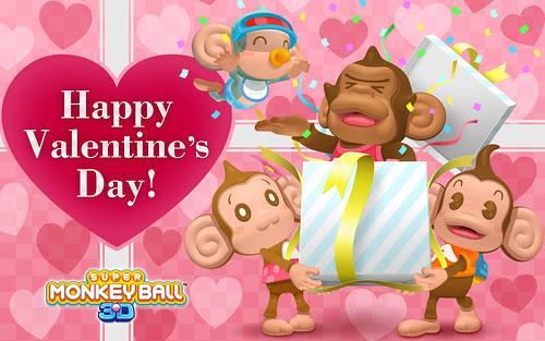 Happy Valentines Day Monkey. Happy Valentines Day from