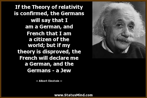 If The Theory Of Relativity Is Confirmed The Statusmindcom