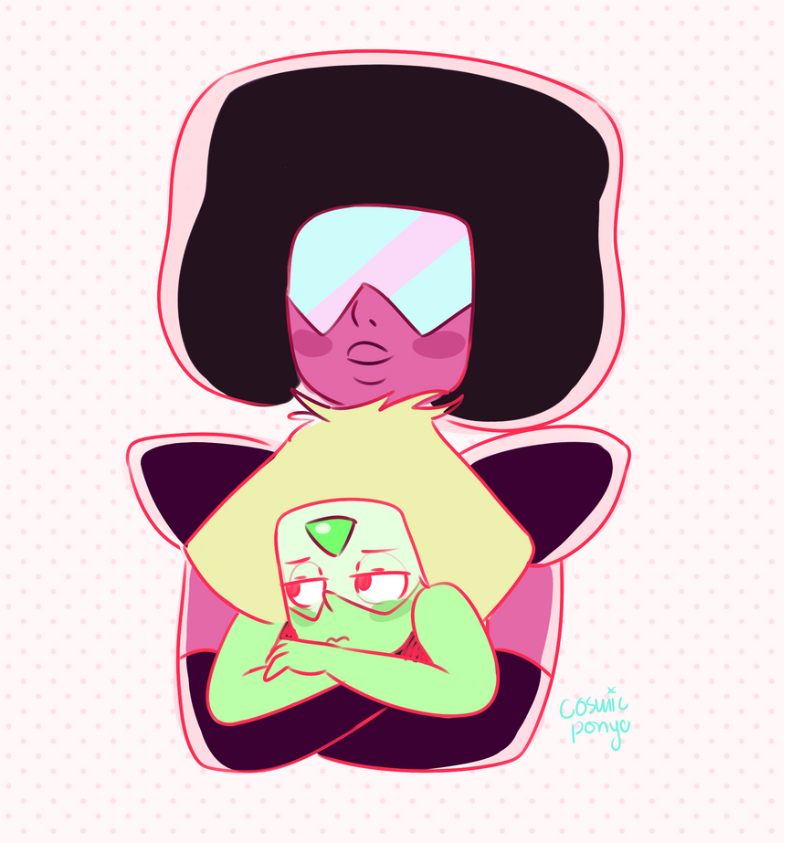 I never thought Garnet and Peri would hang on so well it's actually really cute and I'm so glad this is canon. Hope you like it! It's on tumblr! Please reblog, don't post it again cosmi...