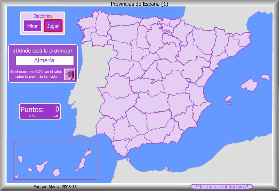 Mapa Interactivo De España Politico.Provincias Espana Mapa Interactivo Mapa