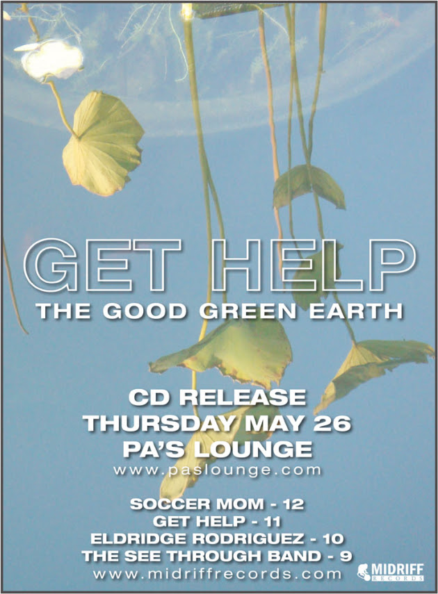Get Help record release party with E.R. and Soccermom