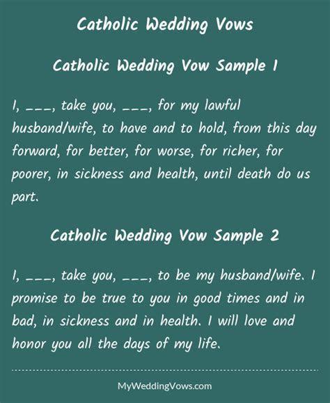 Catholic Wedding Vows   Husband wife, Catholic wedding and