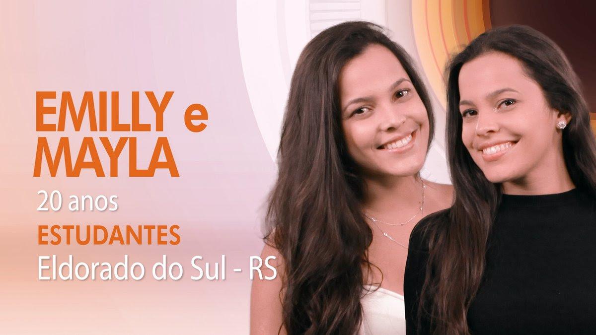 """As gêmeas Emilly e Mayla, participantes do """"BBB17"""" (Foto: Globo/Divulgação)"""
