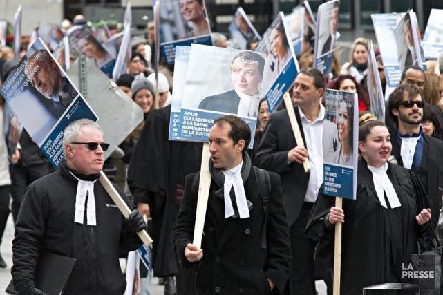 En grève depuis trois mois, les avocats et... (PHOTO PATRICK SANFAçON, archives LA PRESSE)