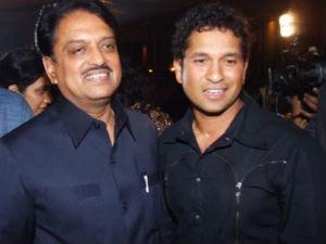 Vilasrao Deshmukh and Sachin Tendulkar