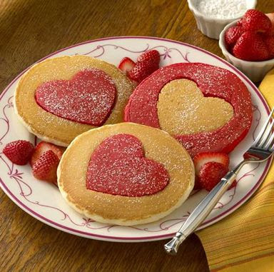 pancakes plus a cookie cutter