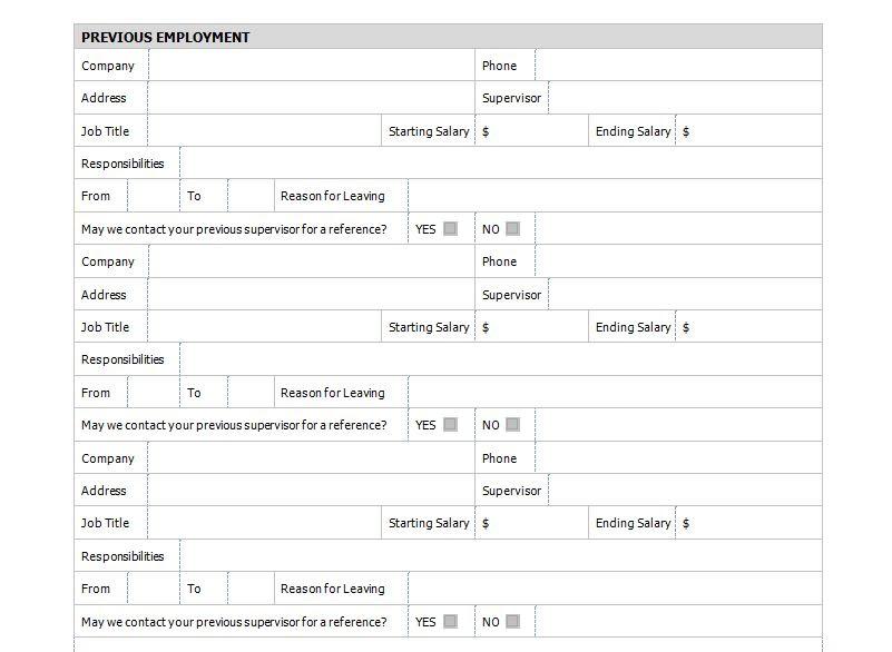 Job Application Form Lesson Job Application