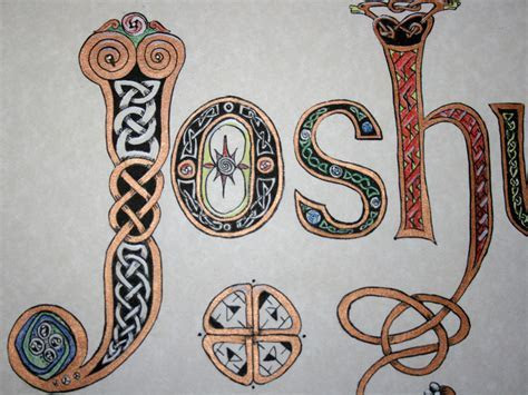 Celtic calligraphy knot with YOUR NAME, initia    Folksy