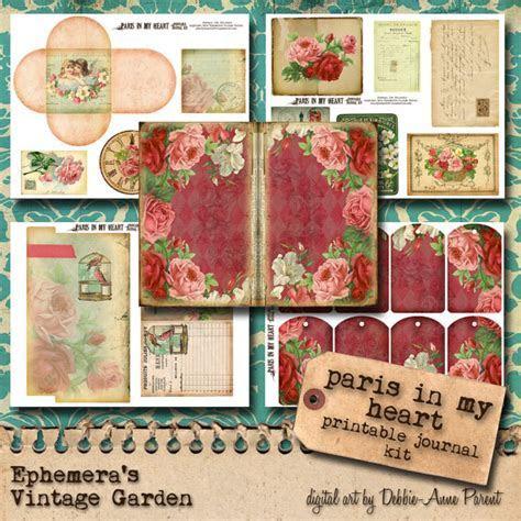 Printable Vintage and Steampunk Journal Kits