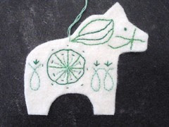 Embroidered Dala Horse