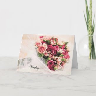 Roses Bouquet Wedding Invitation card