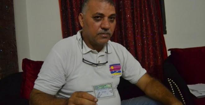 Abdel Nasser Hassan, durante la entrevista. - IBAI TREBIÑO