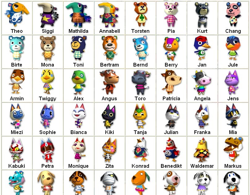 Animal Crossing: New Leaf: AC:NL Characters