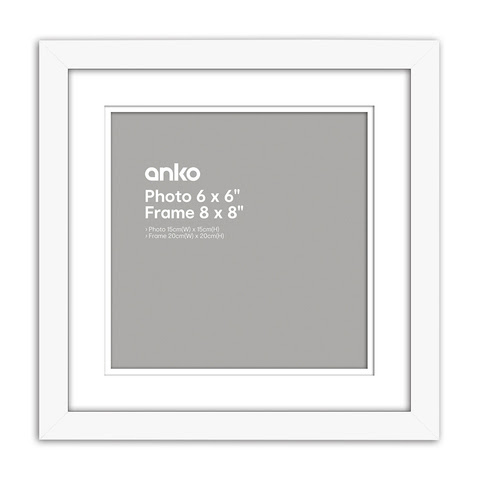 Nice Photo Frame 6in X 6in 15cm X 15cm White Kmart
