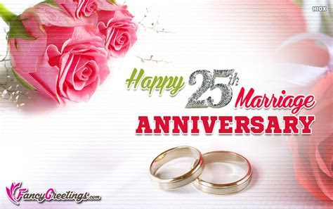 Happy 25th Marriage Anniversary Ecard / Greeting Card