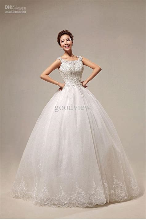 Pure White Sweet Princess Ball Gown Wedding Dresses Bateau