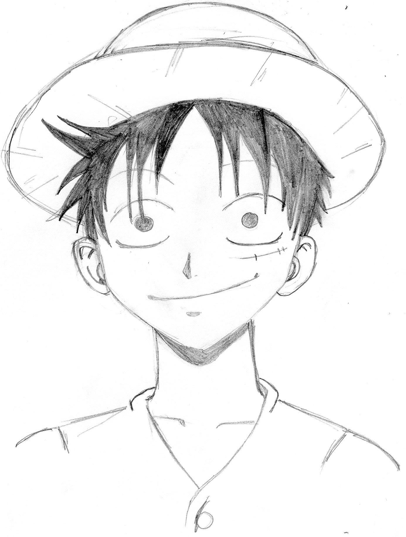Coloriage  imprimer Personnages cél¨bres Mangas e Piece numéro