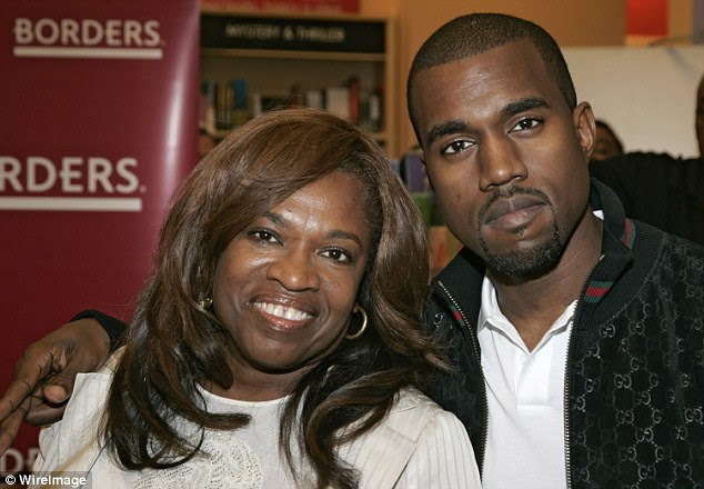 Inspiration: Kim's husband Kanye West lost his mother Donda (pictured) in 2007 to complications following routine cosmetic surgery