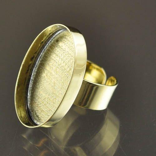 24901022-02 Findings - 20 x 31 mm Oval Bezel Ring - Brass (1)