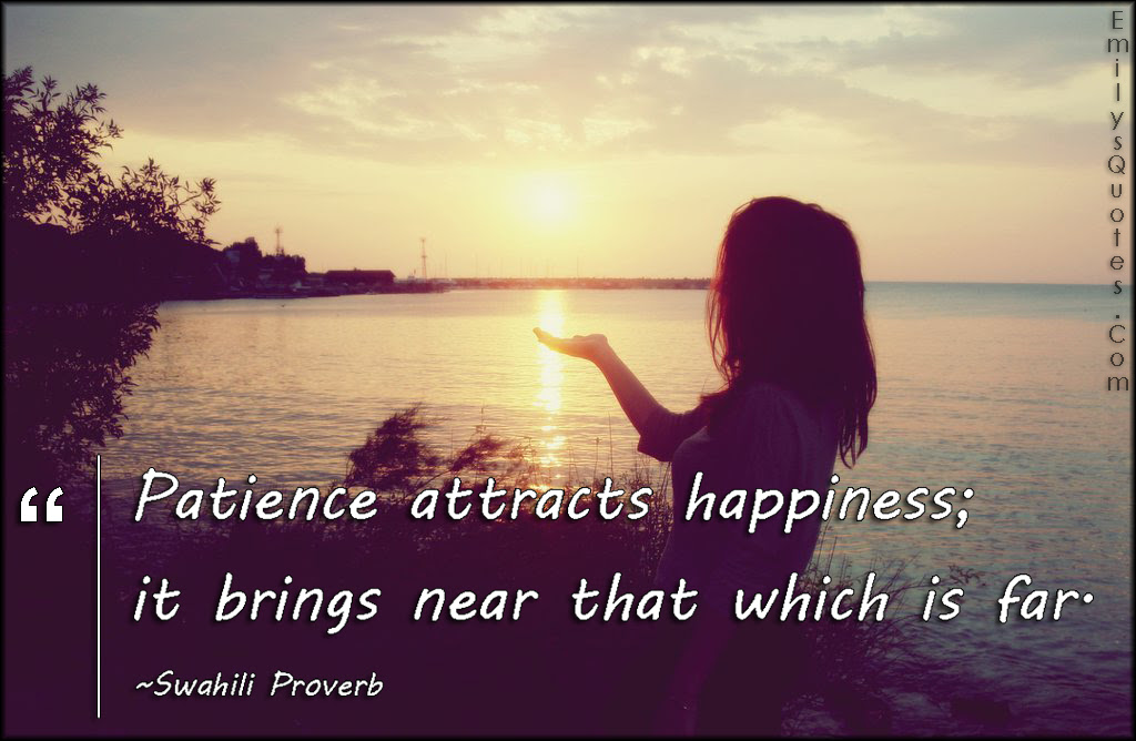 Patience Attracts Happiness It Brings Near That Which Is Far