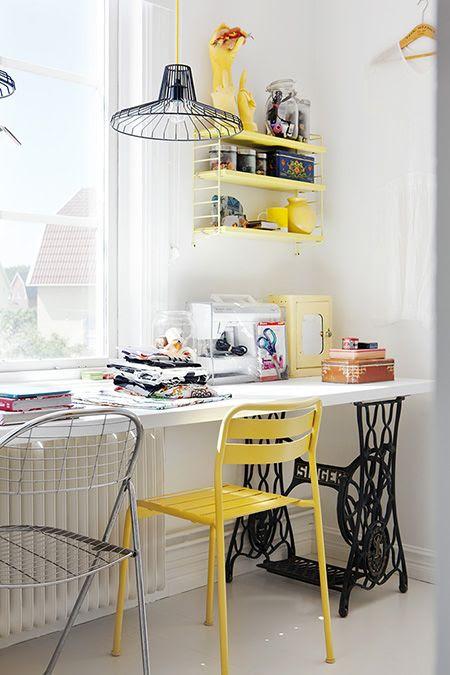 yellow ikea chair