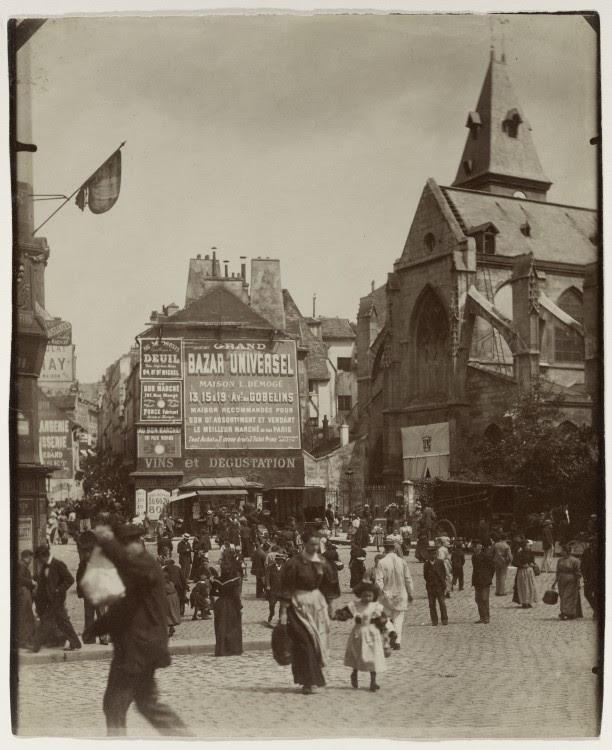 Atget Paris Place Saint Medard1 612x750 Le Paris de 1900 par Atget  photographie histoire art