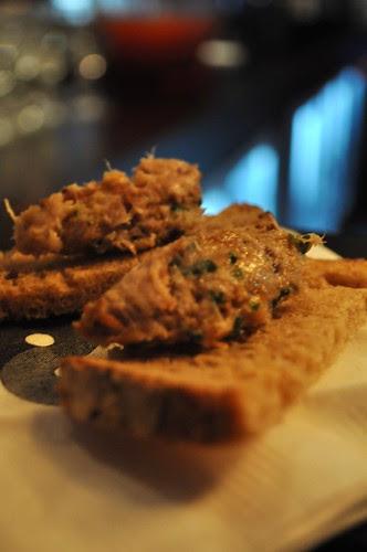 duck riclette toast