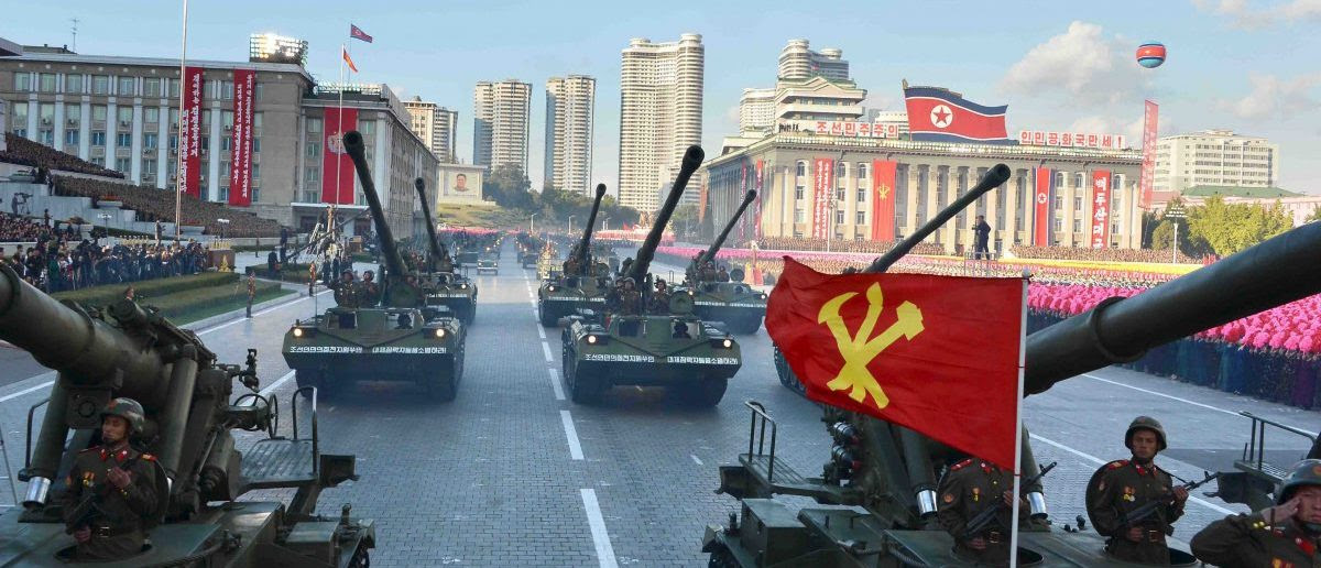 North Korean military participate in the celebration of the 70th anniversary of the founding of the ruling Workers' Party of Korea, in this undated photo released by North Korea's Korean Central News Agency (KCNA) in Pyongyang on October 12, 2015. Isolated North Korea marked the 70th anniversary of its ruling Workers' Party on Saturday with a massive military parade overseen by leader Kim Jong Un, who said his country was ready to fight any war waged by the United States. REUTERS/KCNA
