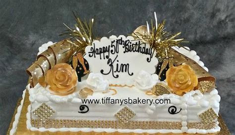 Gold Bling on 1/4 and 1/2 sheet cake ? Tiffany's Bakery