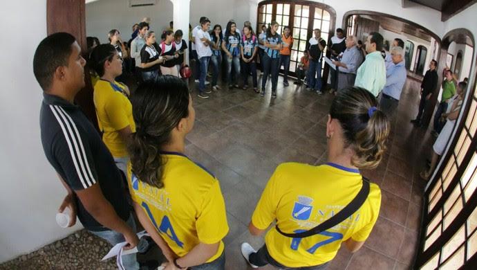 Lançamento da Copa Natal de Futebol Feminino (Foto: Alex Régis/Divulgação)