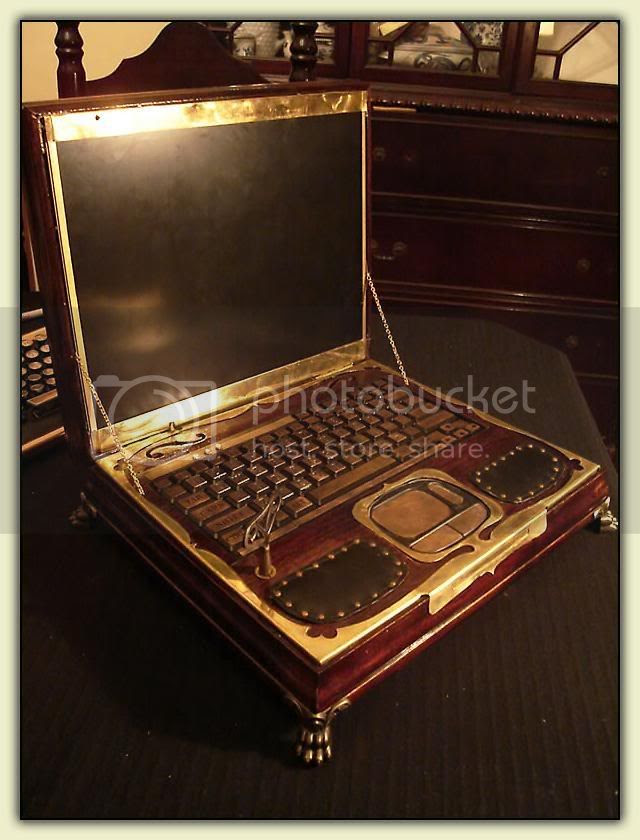 Steampunk Laptop - open