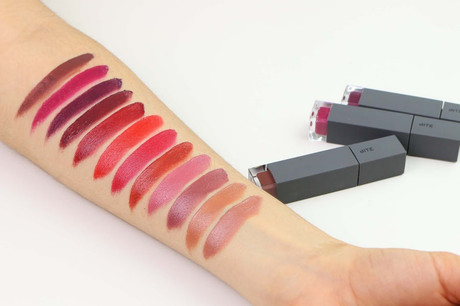 Bite Beauty Amuse Bouche Liquified Lipstick Swatches
