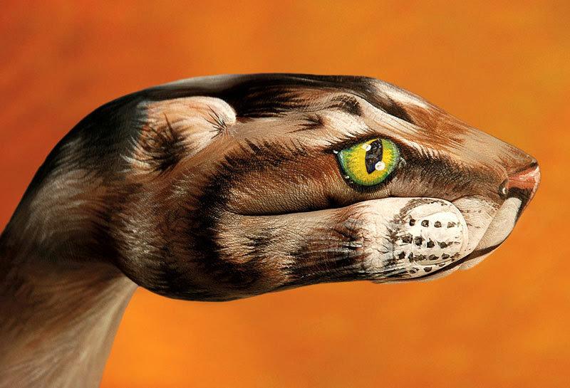 Pintura Corporal Retratos Realistas De Animales En Man En Taringa