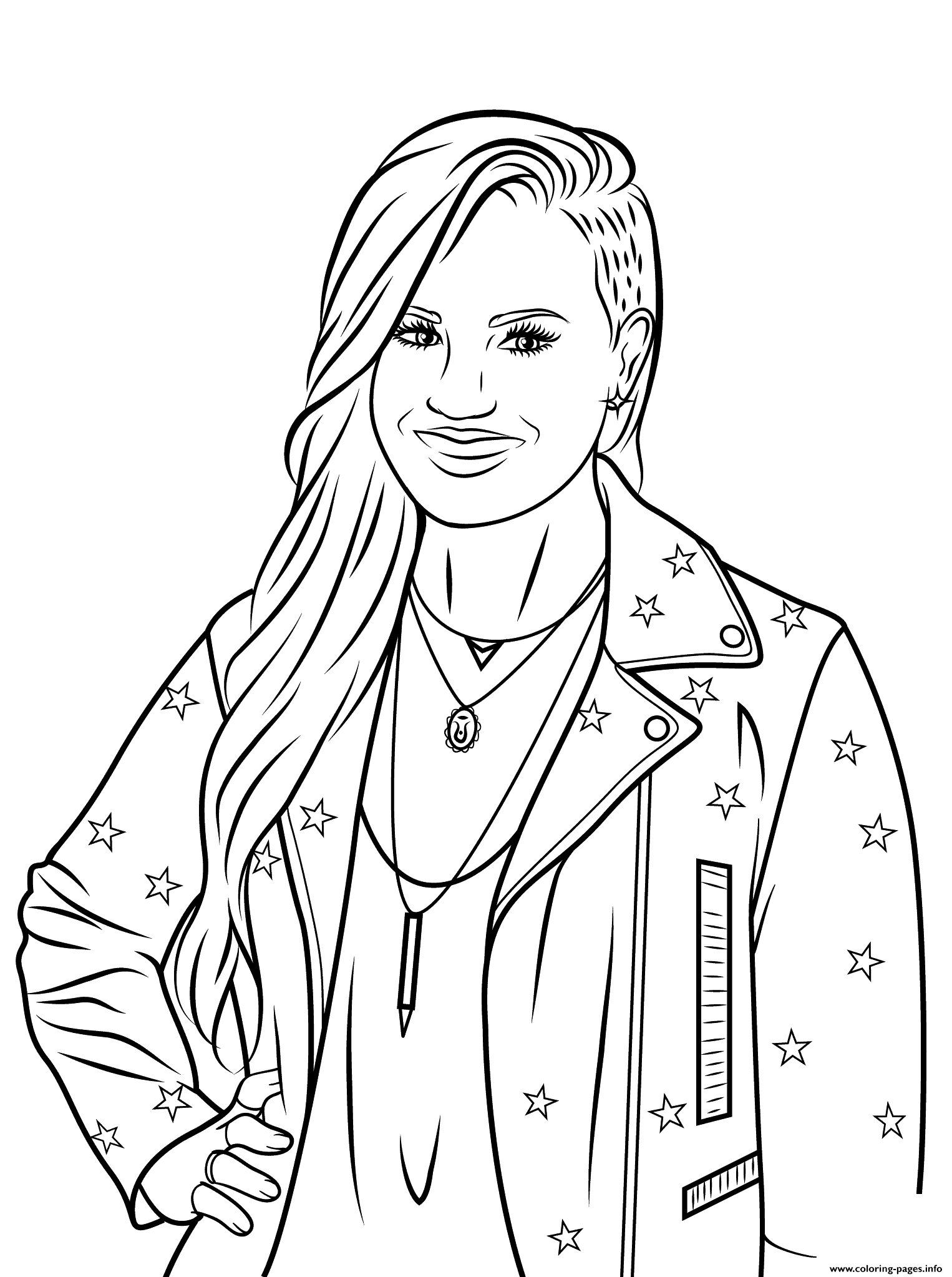 Demi Moore  Free Coloring Pages