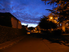 Walking to Bray harbour before sunrise