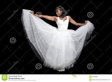Black Woman In Wedding Dress Stock Photo   Image: 24000886
