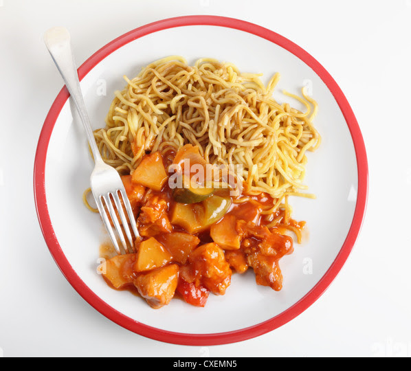 Sweet And Sour Chicken And Noodles Stock Photos  Sweet And Sour Chicken And Noodles Stock