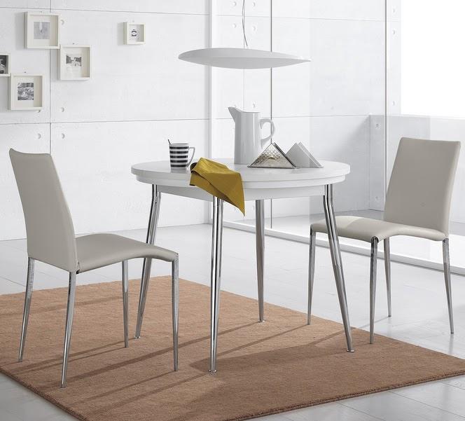Casas cocinas mueble mesa extensible redonda - Mesa cocina redonda extensible ...