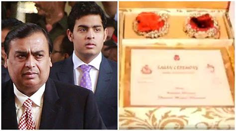 Mukesh Ambani son Akash Ambani's Rs 1.5 lakh Wedding Card